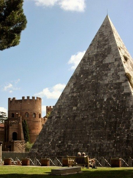 Built c.12 BC The Pyramid of Cestius | Rome, Italy