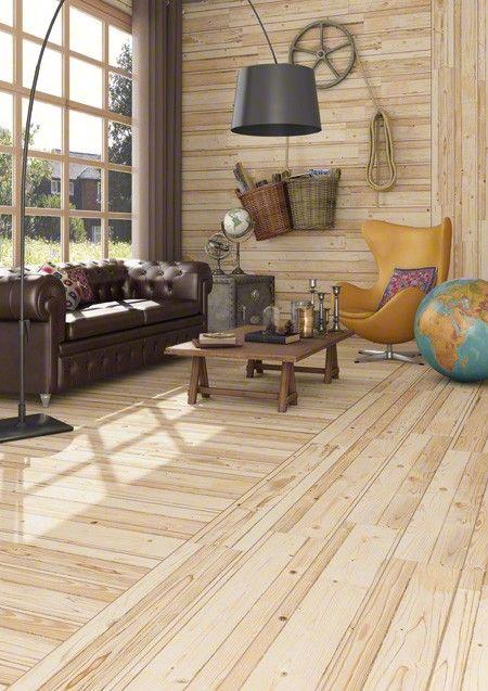 Vives Fremont R Natural 8x48 Porcelain Tile Wood Look Tile Balcony Furniture Rustic Living Room
