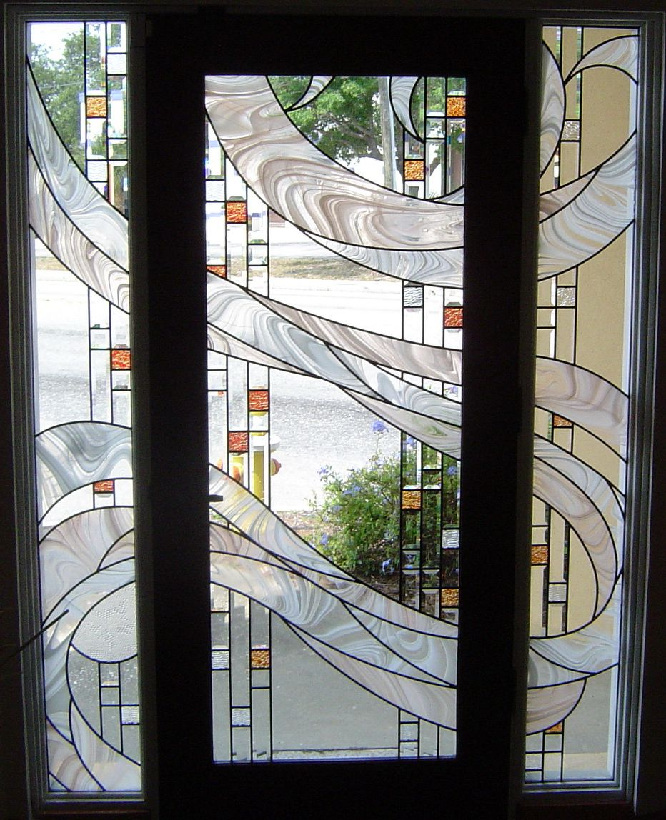 Ambient Moon Stained Glass Door Stained Glass Panels Stained Glass