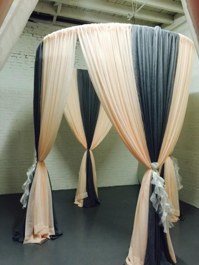 Peach and gray round canopy with tutu sashes. & Peach and gray round canopy with tutu sashes. | My backdrops and ...