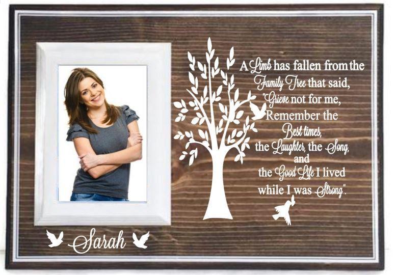 Memorial picture frame memorial gift unique sympathy