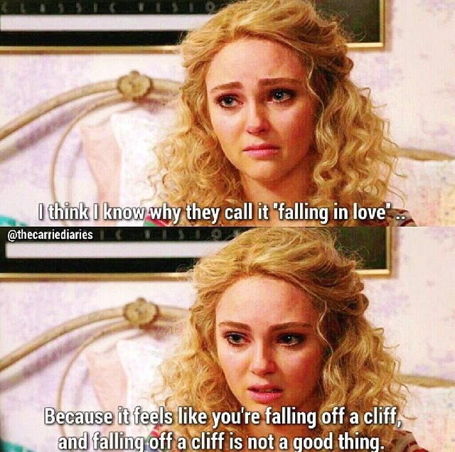 TCD - 1x9  Carrie about falling in love with Kydd.