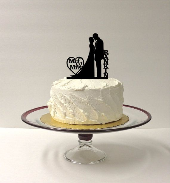 Hey, I found this really awesome Etsy listing at https://www.etsy.com/listing/186974711/monogrammed-silhouette-cake-topper-mr