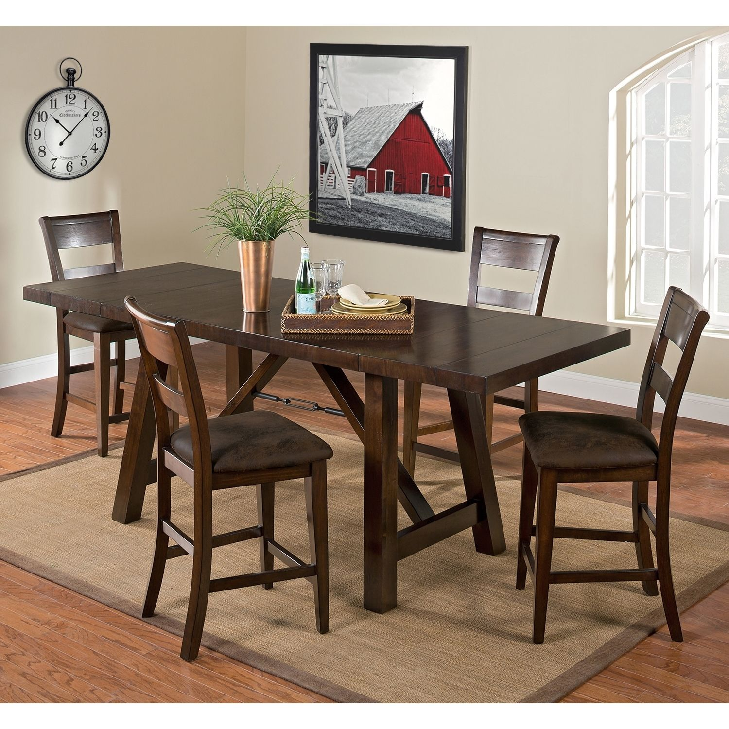 Everett Counter Height Table Value City Furniture 340 Table 110 Per Chair 780 5pc 1000 7pc Dining Room Furniture Furniture Dinette Furniture