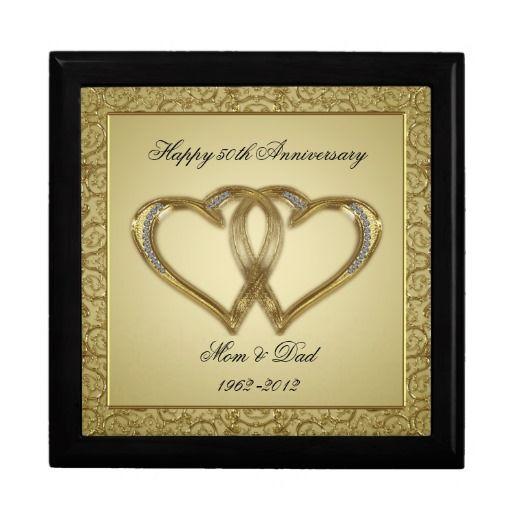 Gift Ideas 50th Wedding Anniversary: 50th Wedding Anniversary Gift Box