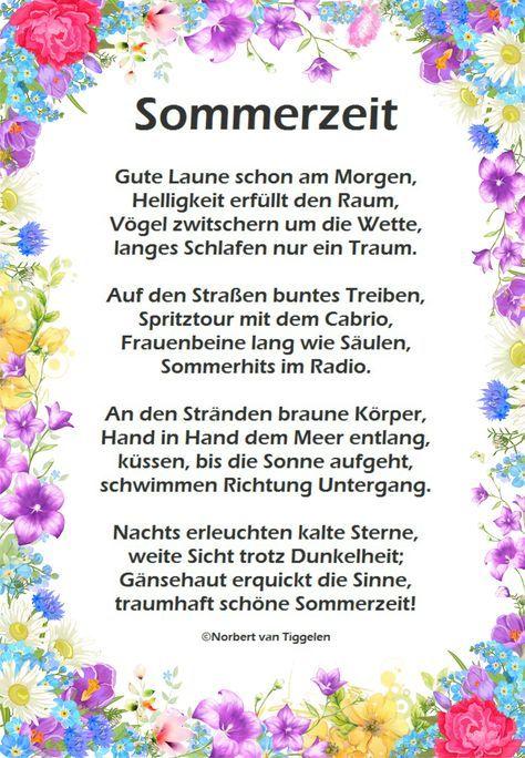Sommer Van Tiggelen Gedichte Menschen Leben Weisheit Welt