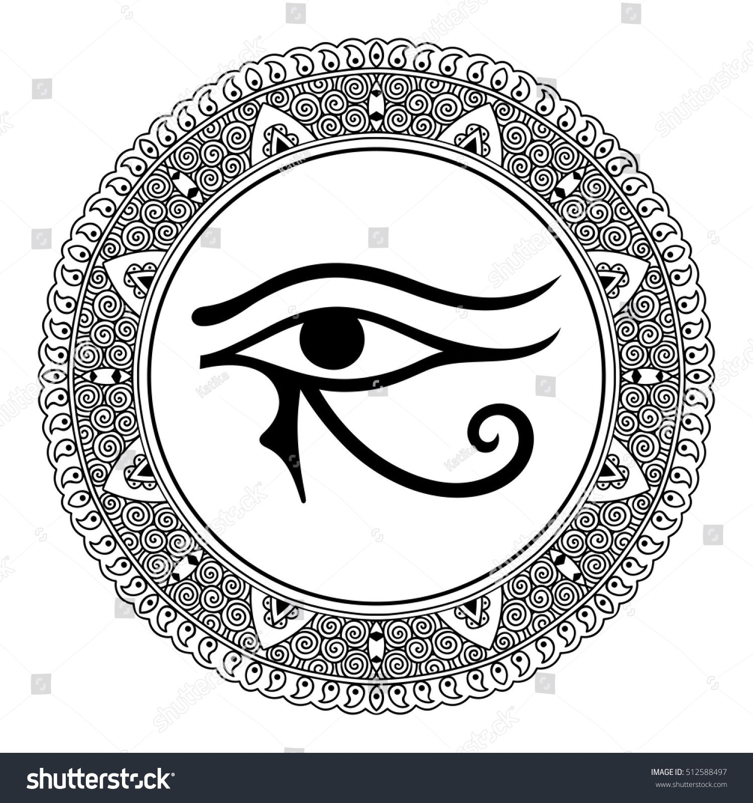 Circular pattern in the form of mandala the ancient symbol eye of circular pattern in the form of mandala the ancient symbol eye of horus egyptian buycottarizona