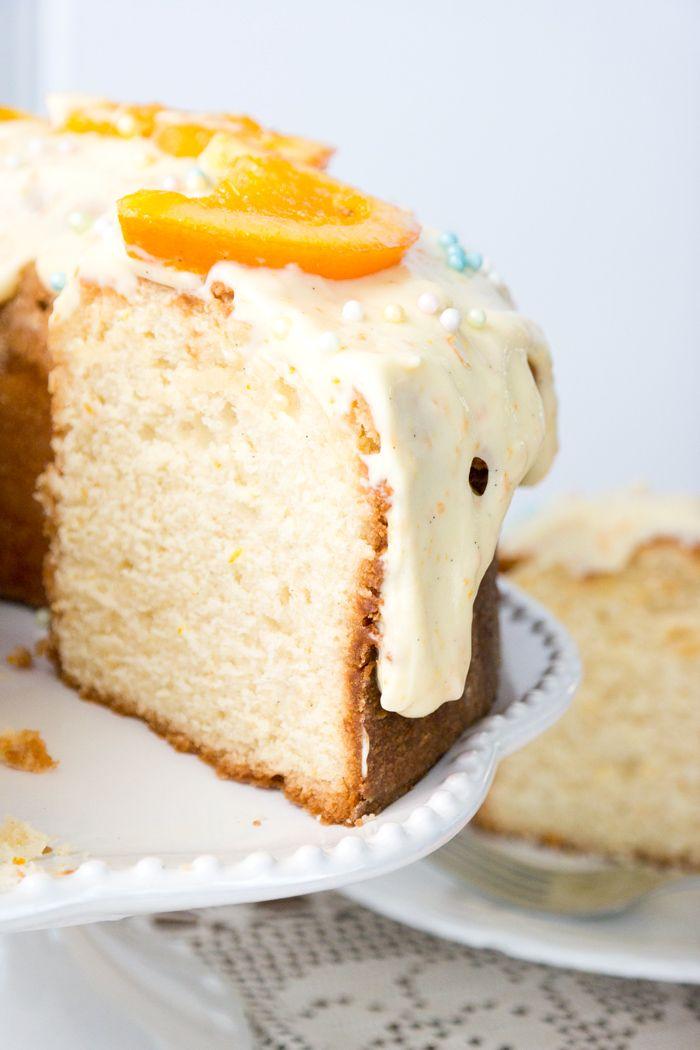 Orange Vanilla Sour Cream Pound Cake The Sugar Coated Cottage Recipe Sour Cream Pound Cake Cake Recipes Dessert Recipes