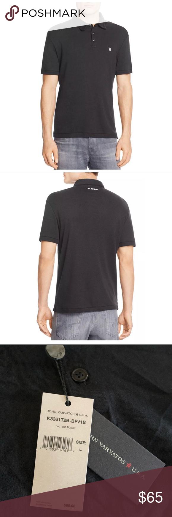 John Varvatos Mens Polo Playboy Slim Fit Polo Shirt