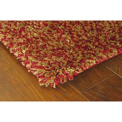 Manhattan Tweed Red/ Gold Shag Rug (5' x 8') | Overstock.com Shopping - The Best Deals on 5x8 - 6x9 Rugs