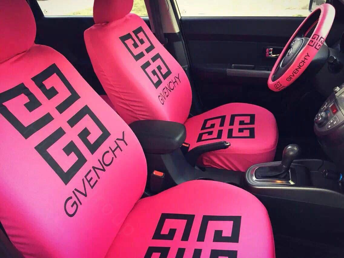 22981 Luxury GIVENCHY Universal Auto Seat Covers For Cars Cotton Full Set 10pcs
