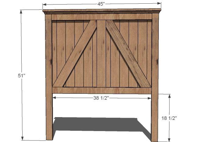 Best Rustic Farmhouse Headboard Twin Twin Headboard Diy Storage Bed Diy Bedframe With Storage 640 x 480