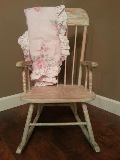 Childs Rocker   Childs Rocking Chair   Vintage Rocker   Vintage Rocking  Chair   Shabby Chic