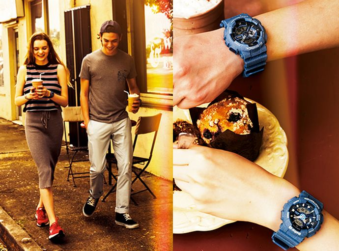 7f3b8bd0abba4 Denim pattern coloring has long been a favorite standard casual fashion  item. The G-Shock GA-110DC-2A and Baby-G BA-110DC-2A2 based on the popular  BA-110 ...
