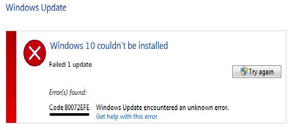 How To Fix 80072efe Error Fix Windows Update Error Repair Computer Security Fix It How To Remove