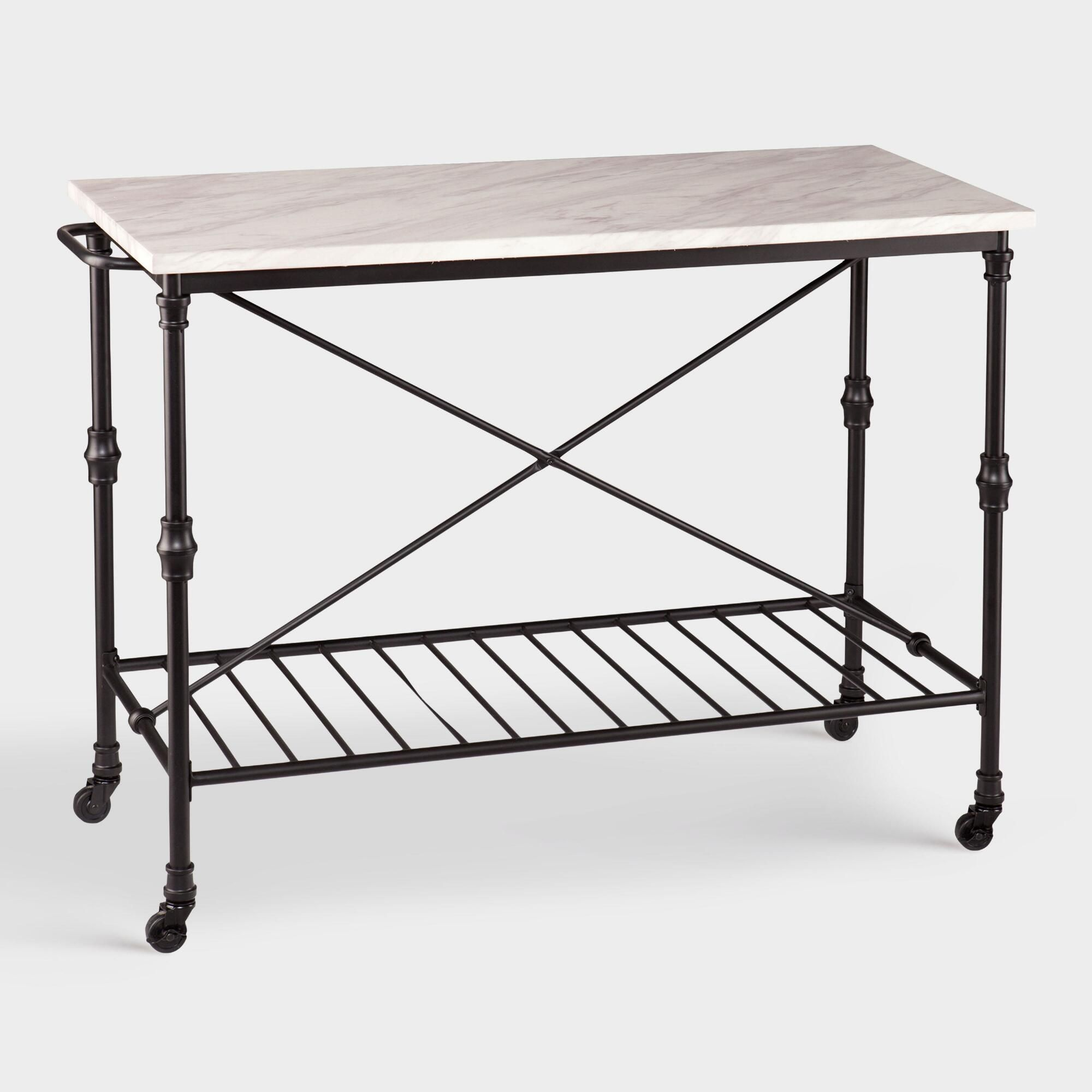 Metal And Marble Finish Laurie Kitchen Cart by World Market ...