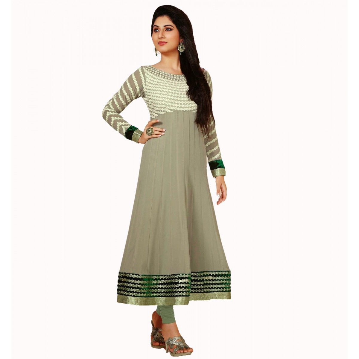 34d69d3f6d Disha Parmar Grey Georgette Indian #Anarkali Kameez #SalwarKameez #Dress  #WomenClothing #Fashion