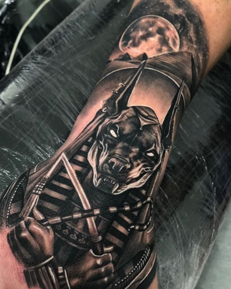 Wonderful Tattoos By Cebaztattoo Follow Realistic Ink For More Amazing Realistic Tattoo Tag Us To Egyptian Tattoo Sleeve Anubis Tattoo Hand Tattoos For Guys