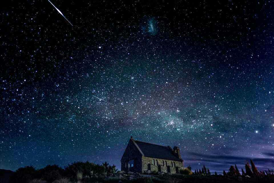 Shooting Star Night Skies Beautiful Backgrounds The Good Shepherd
