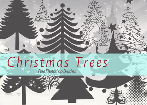 15 Free Christmas Tree Brushes For Photoshop Tree Photoshop Christmas Fonts Free Christmas