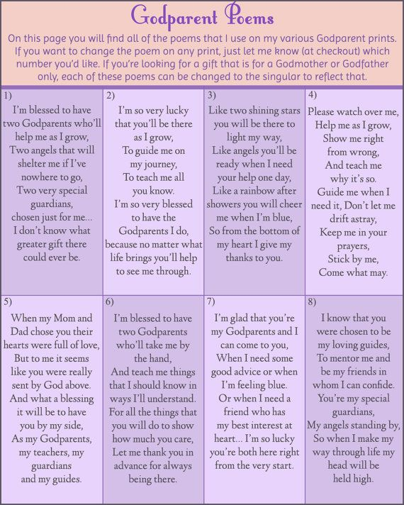 Best 25 Godparent Poems Ideas On Pinterest Gifts For
