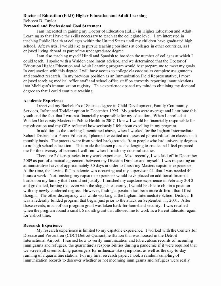Personal Goal Statement Format New And Professional Essay Writing Example Goals What I A