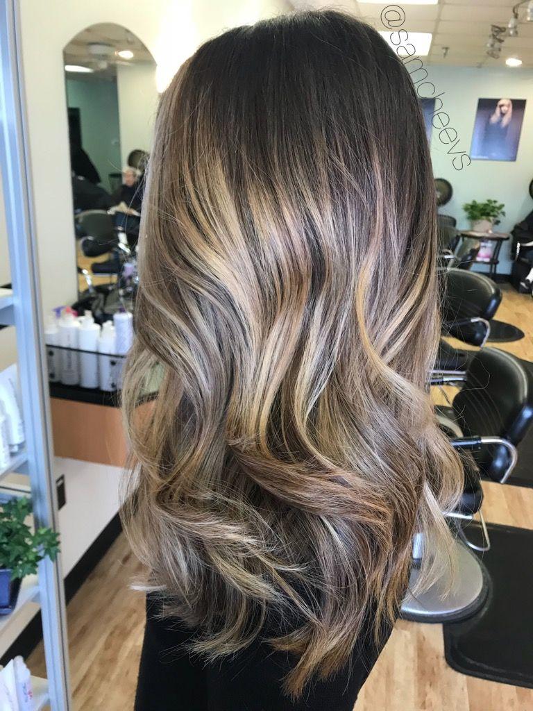 Spring 2018 Caramel Honey Natural Balayage Highlights For Chocolate Mocha Brown Hair Types Mocha Hair Mocha Color Hair Balayage Hair Honey