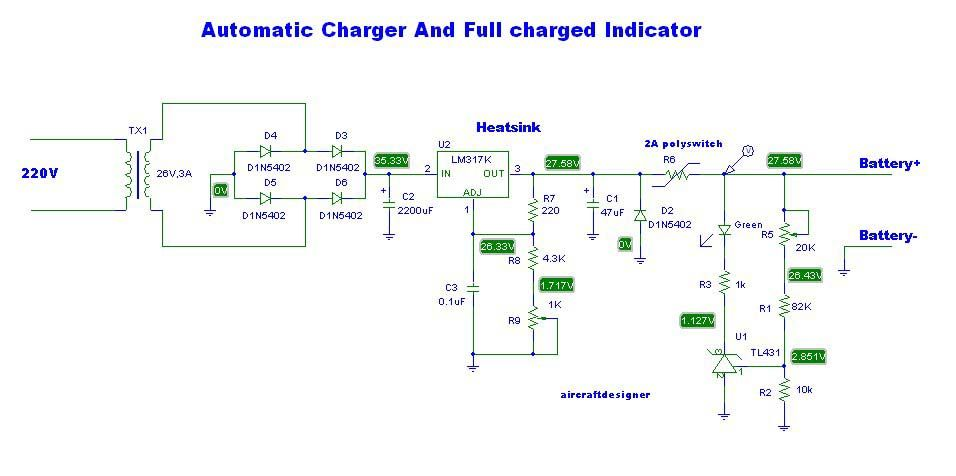 LM317 Lead acid battery charger | Electronic | Battery charger