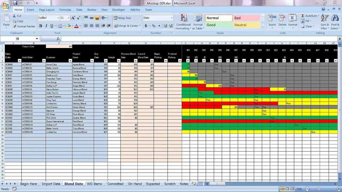 Manufacturing Production Schedule Template Excel Schedule