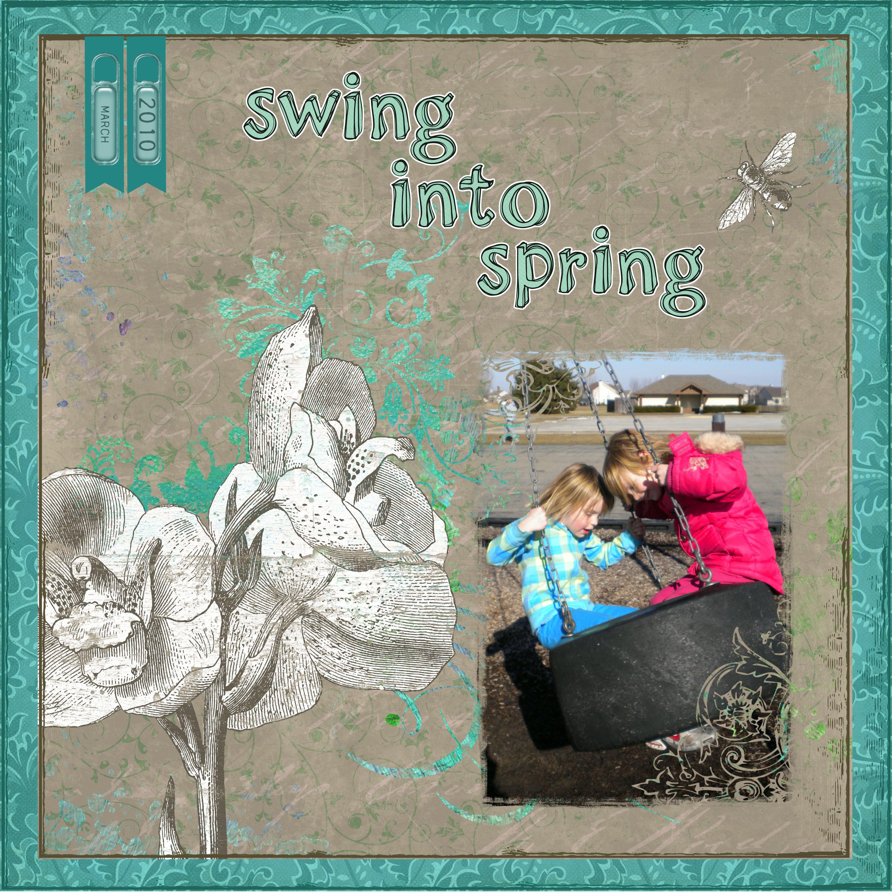 Scrapbooking- Swinging