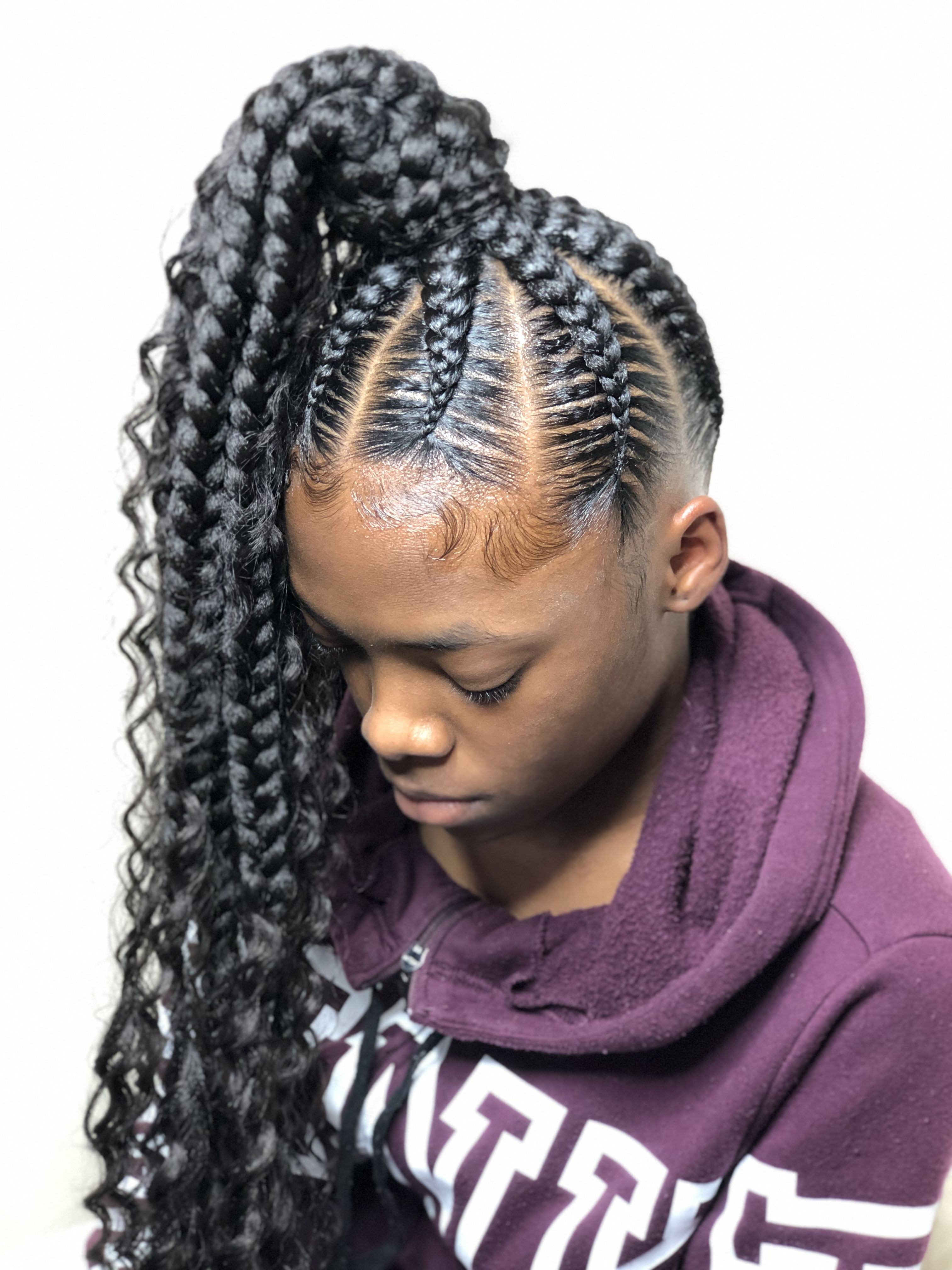 Stitch Braids Into A Ponytail Tbah Stitchbraids Hair
