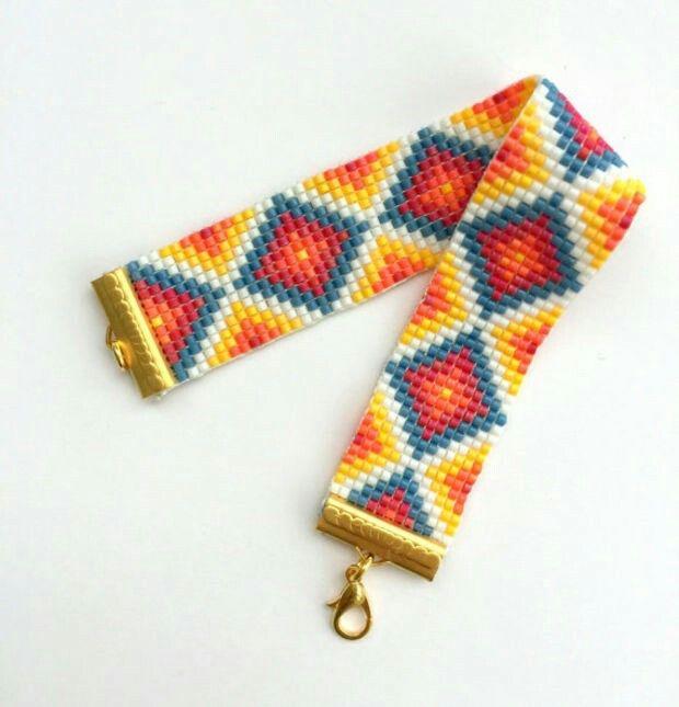 Pin de Gloria Garcia Gloviya en pulseras en telar | Pinterest ...