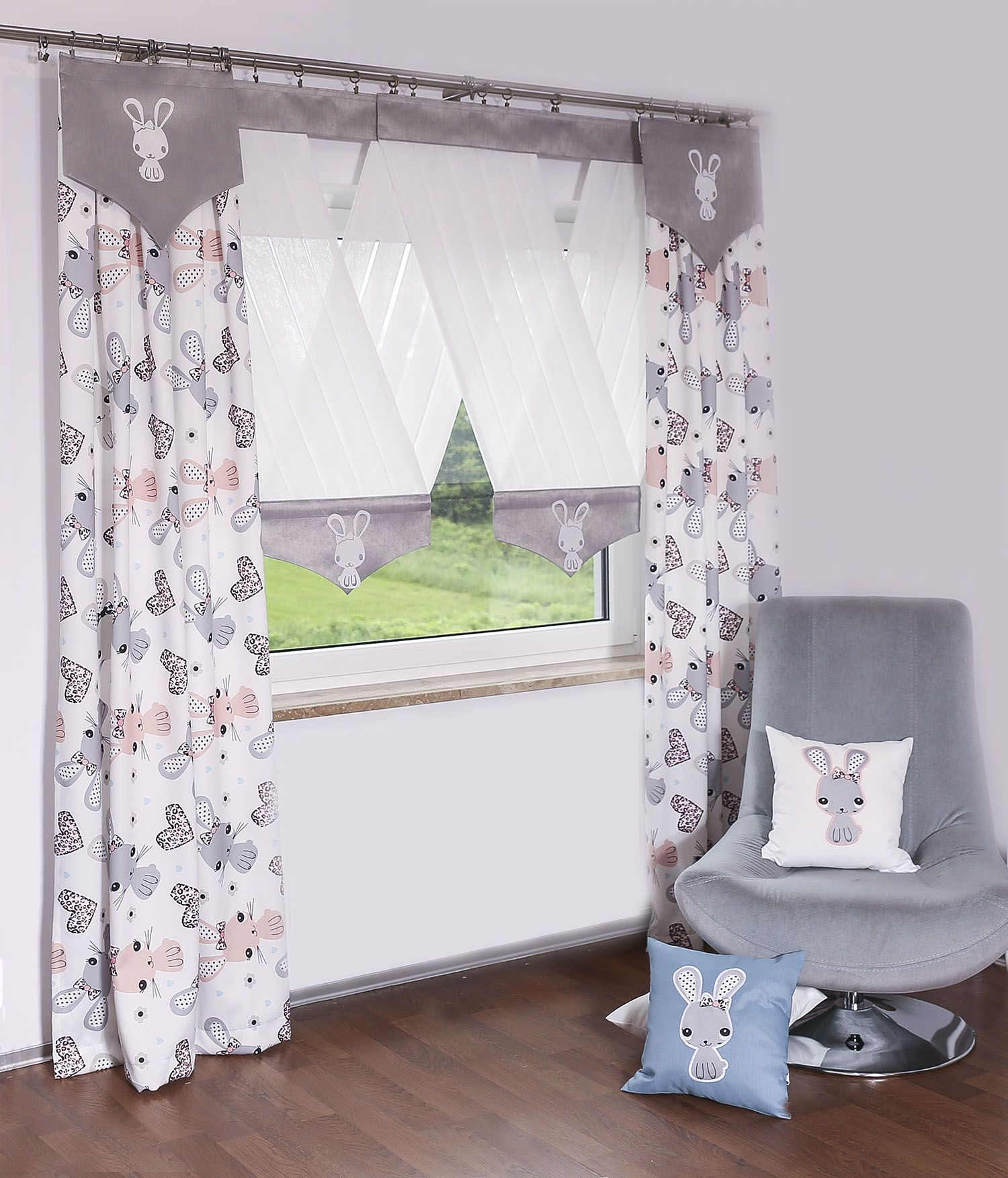 Firana V Ka W Kroliki W Pokoju Dziecka Window Decor Home Decor Home
