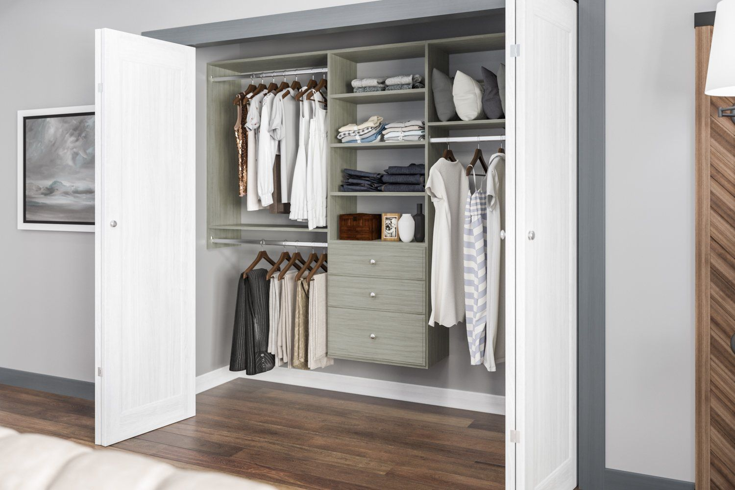 Best Closet Systems Easy Diy Installation Home In 2019 Closet System Closet