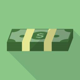 フラットデザインのアイコン ドル紙幣のアイコン素材 アイコン素材 アイコン ドル紙幣
