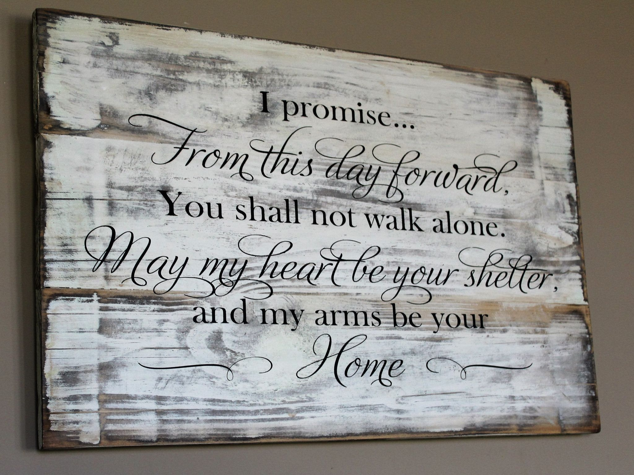 rustic wedding vow wood sign from this day forward carved wood