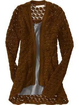Women's Open-Front Crochet Cardigans $29.00...LOVE this ...