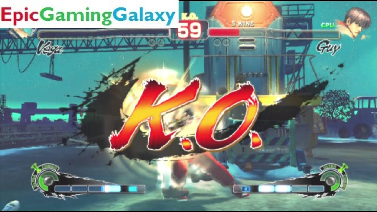 Guy VS Vega In A Super Street Fighter 4 Arcade Edition Match / Battle / Fight This video showcases Gameplay of Guy VS Vega In A Super Street Fighter 4 Arcade Edition Match / Battle / Fight