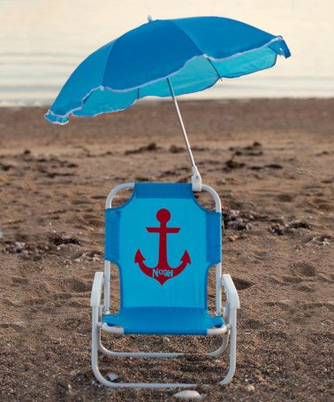 Personalized Beach Chairs lollipop kids shoppe blue anchor personalized kid's beach chair