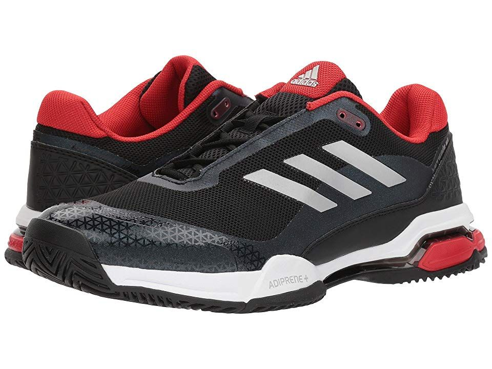 adidas Barricade Club BlackScarletWhite Mens Tennis Shoes Make the competition beg for mercy when you step onto the court in the adidas Barricade Club tennis sneaker Brea...