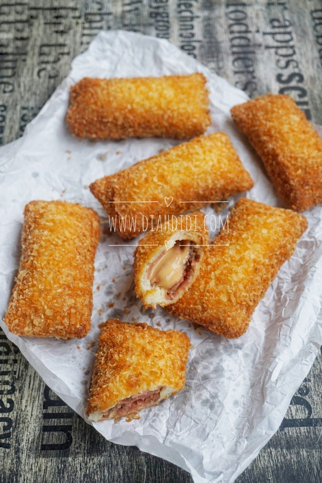 Roti Tawar Isi : tawar, Didi's, Kitchen:, Tawar, Goreng, Daging, Makanan,, Makanan, Minuman,, Resep, Masakan