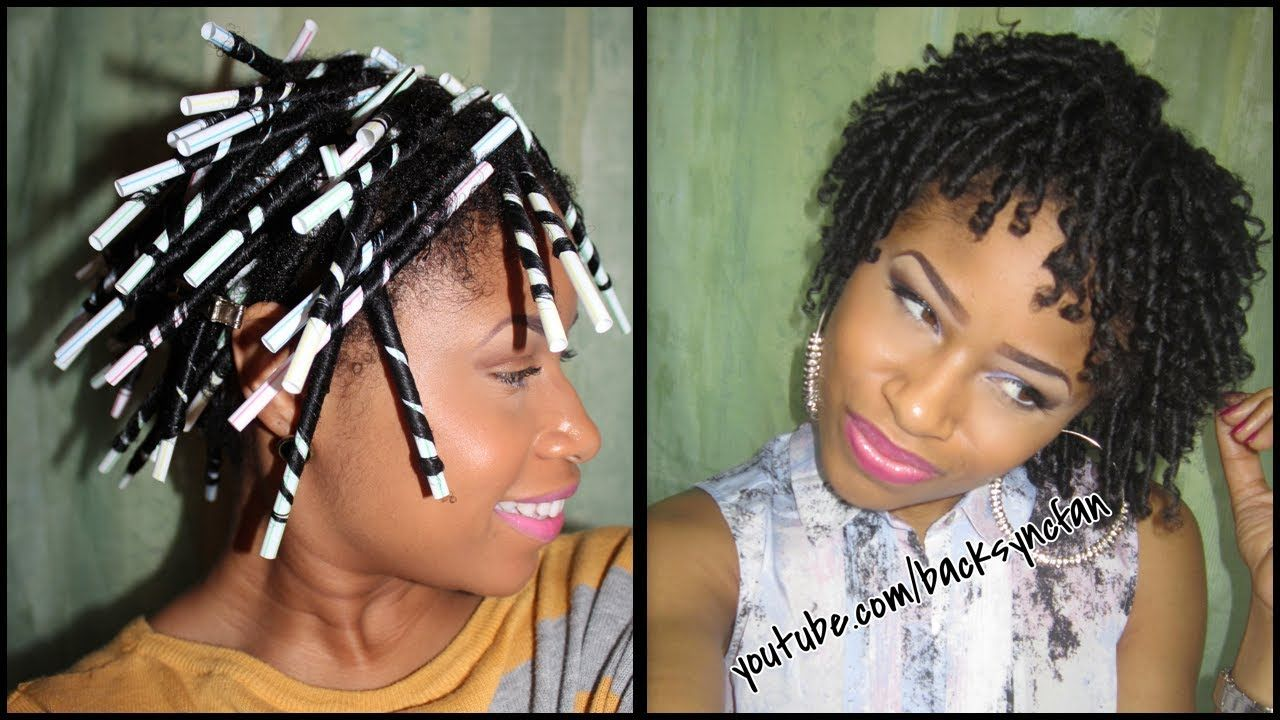 Straw Set On Natural Hair Defined Bouncy Curls Hair Styles Straw Curls Natural Hair Styles