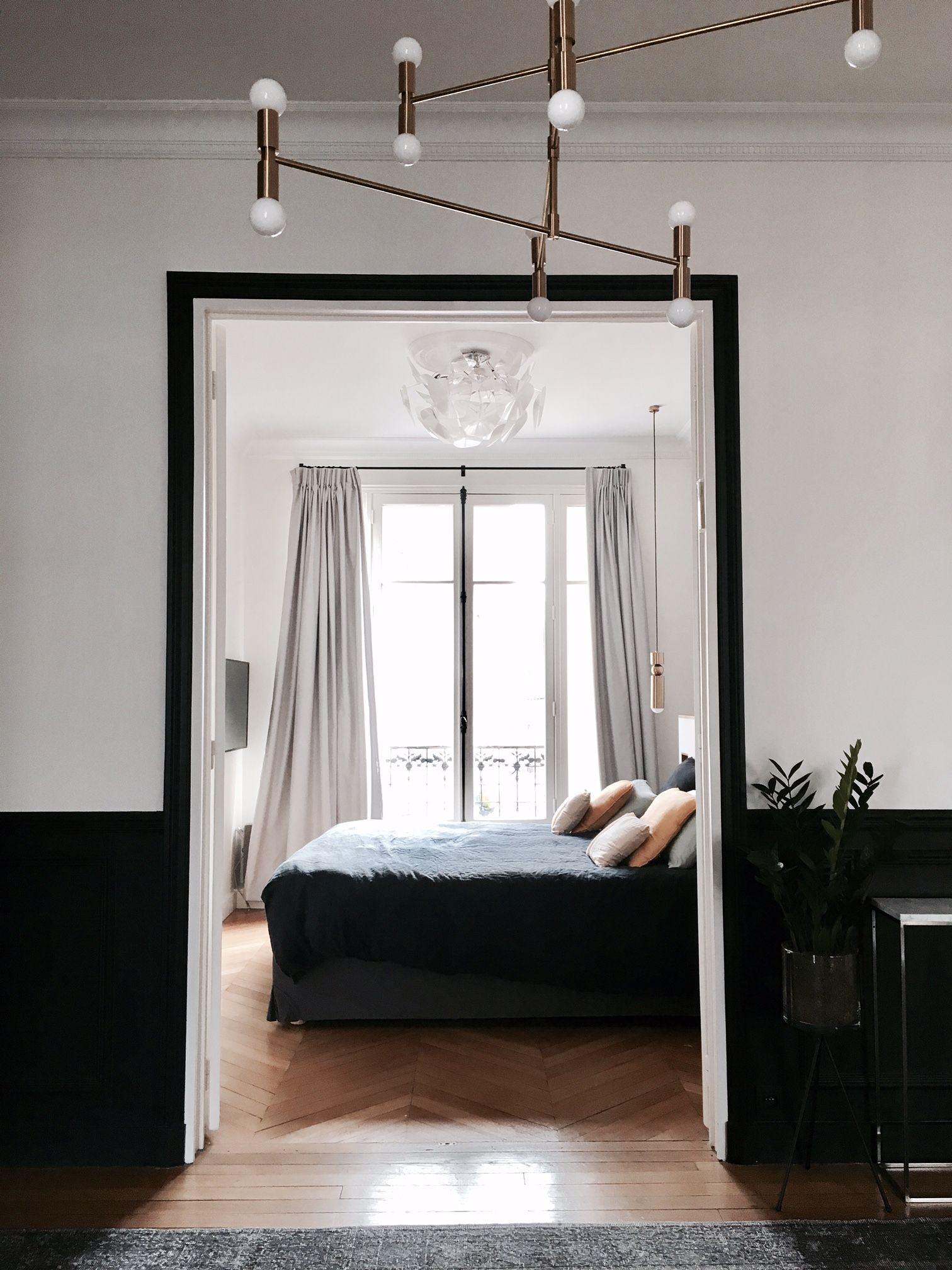 Visite Privee Chez Claudia Et Dan Billie Blanket Appartement Relooking Interieur De Chambre Chambre A Coucher Design