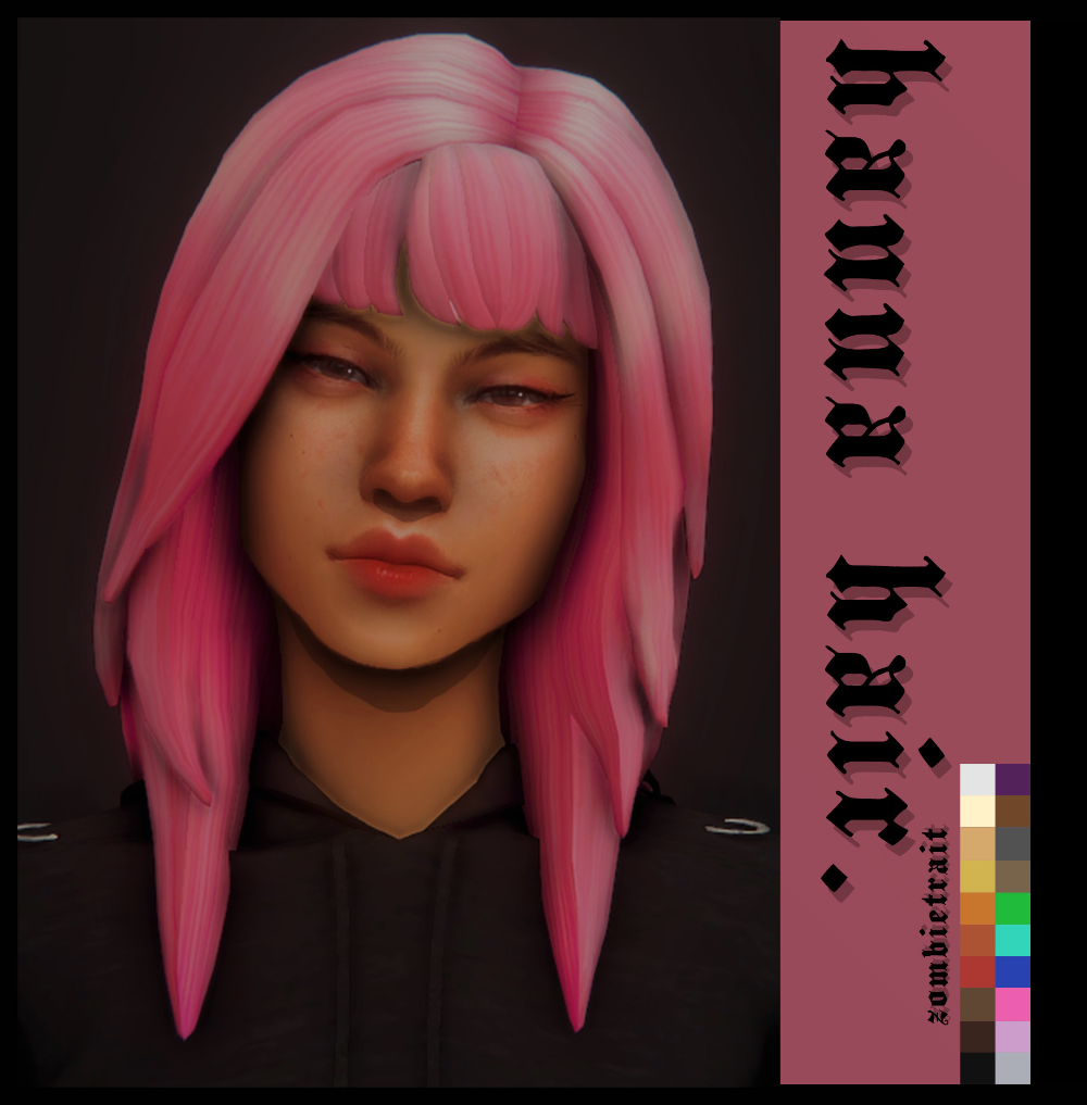 Hanna Hair It Looks Like Hannah Montana Base Game Compatible Hat Compatible All Ea Colors A Light Brown Shade An A In 2020 Maxis Match Sims 4 Mm Cc The Sims 4 Packs