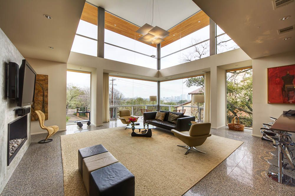 Passive Solar House, Beautiful Contemporary Home Design In Texas    Livingroom   Viahouse.