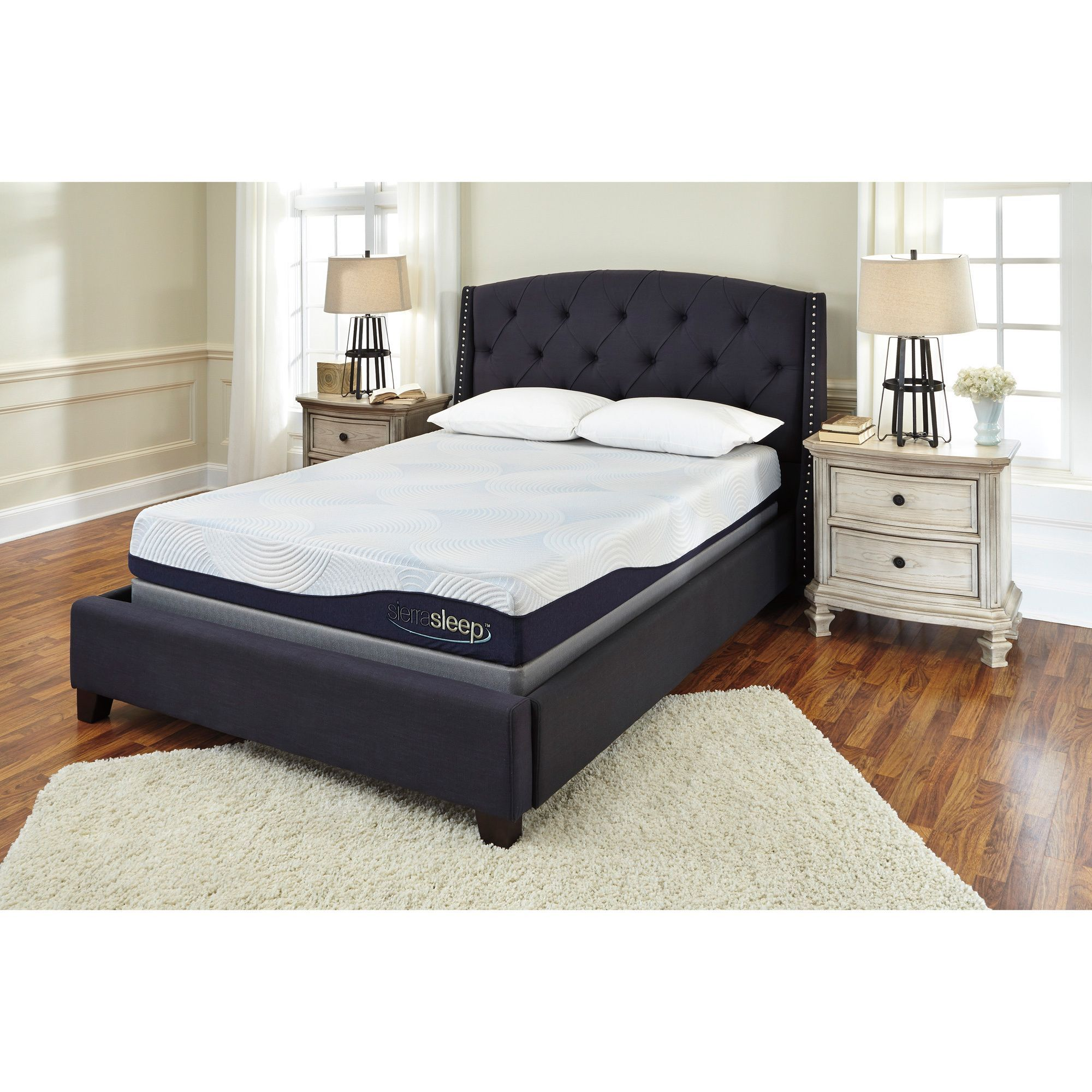 sierra sleep by ashley 9 inch queen size gel memory foam mattress
