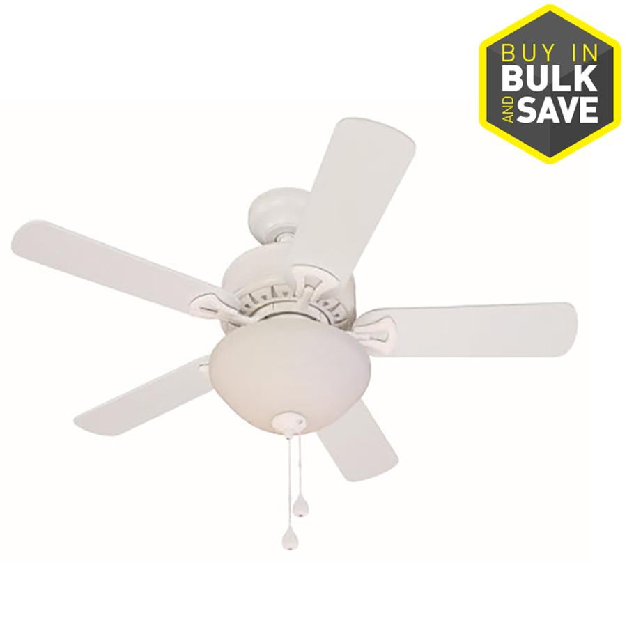 Harbor Breeze Clic 36 In White Indoor Downrod Or Close Mount Ceiling Fan With Light Kit Apr18