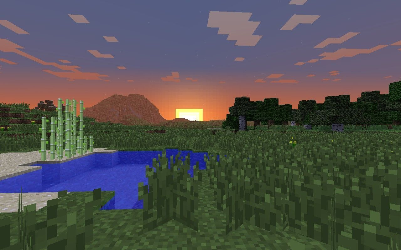Minecraft Wallpaper Sunset Minecraft Blog With Images