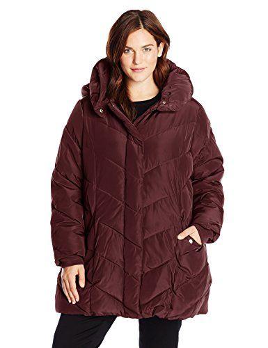 Madden Jacket Size Women's Packable Hood With Plus Steve Puffer pTazqz