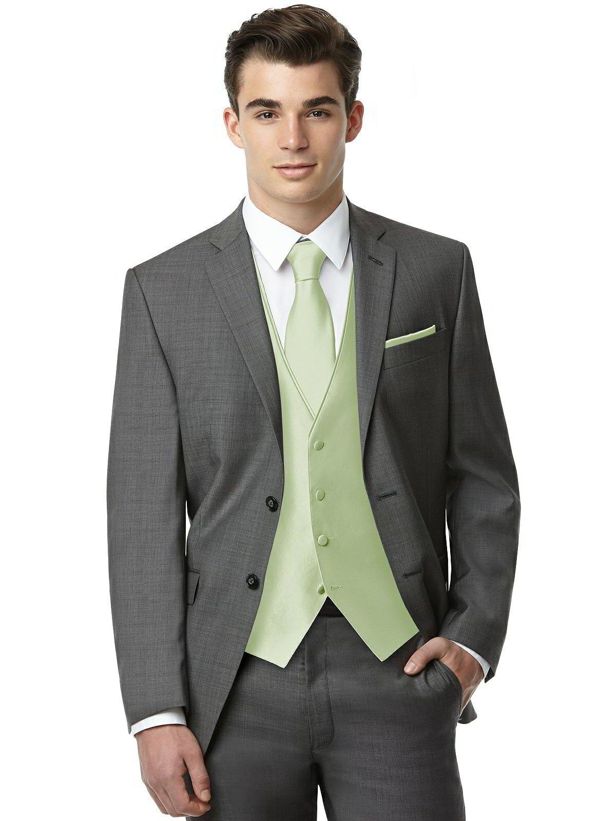 Men's 4button Tuxedo Vest In Yarndyed Jacquard Wedding